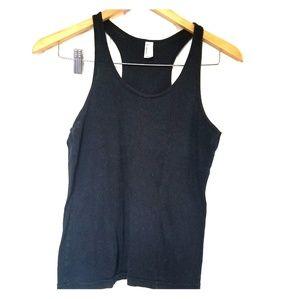 American apparel racerback black tank top